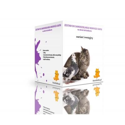 Zestaw INWAZYJNY na balkon dla kotów